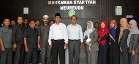 Pembinaan di MS Meureudu oleh Ketua Mahkamah Syar'iyah Aceh