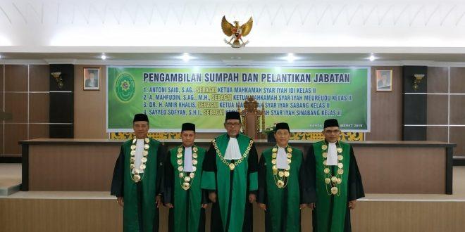 Ketua Mahkamah Syar'iyah Meureudu dilantik