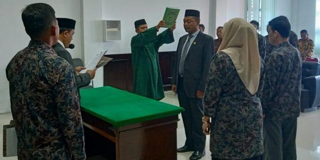 Pengambilan Sumpah Jabatan dan Pelantikan Panmud Jinayat, Pengantar Tugas Hakim dan Perpisahan Pegawai Purnabakti MS Meureudu