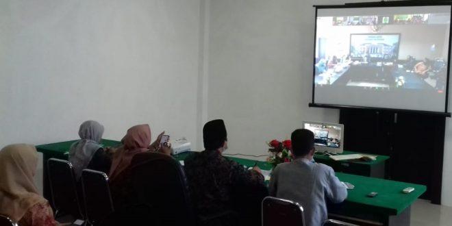 MS Meureudu Mengikuti Pembinaan dan Pengawasan Secara Virtual Meeting dari MS Aceh